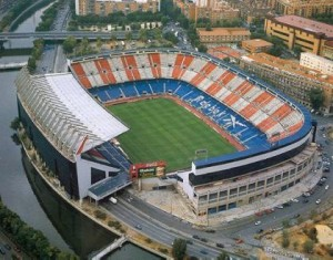 Stadium Vicente Calderon of Atletico Madrid